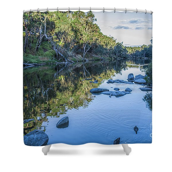 Blackwood River Rocks, Bridgetown, Western Australia Shower Curtain