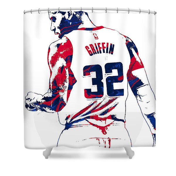 Blake Griffin Los Angeles Clippers Pixel Art 4 Shower Curtain