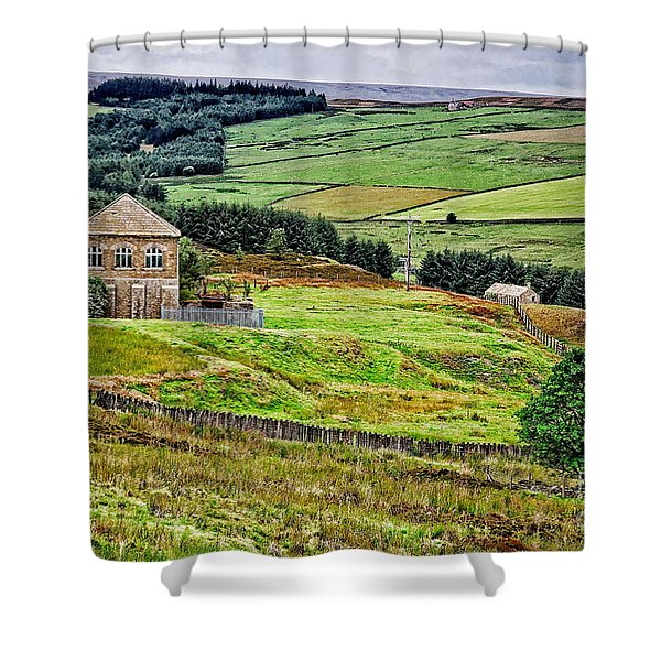 Blanchland Moor Pumphouse Shower Curtain