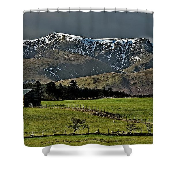 Blencathra Mountain, Lake District Shower Curtain