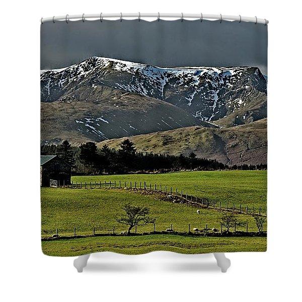 Blencathra Mountain, Lake District Shower Curtain
