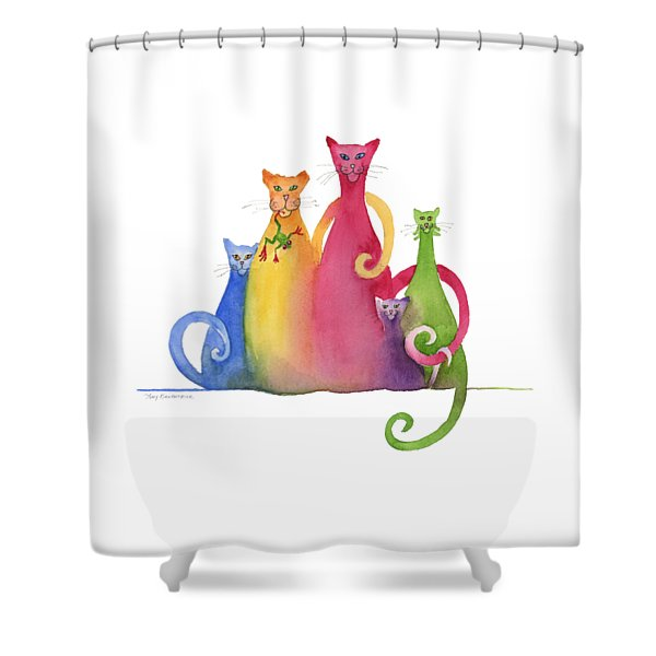 Blended Family Of Five Shower Curtain