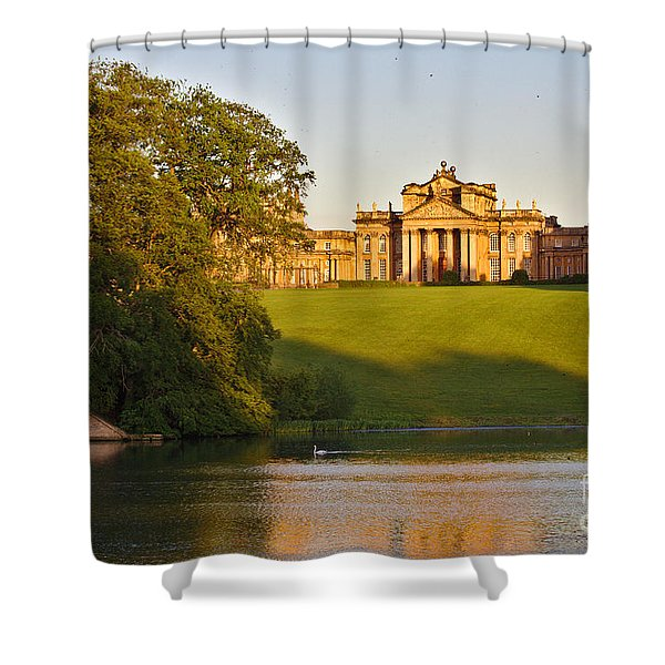 Blenheim Palace And Lake Shower Curtain