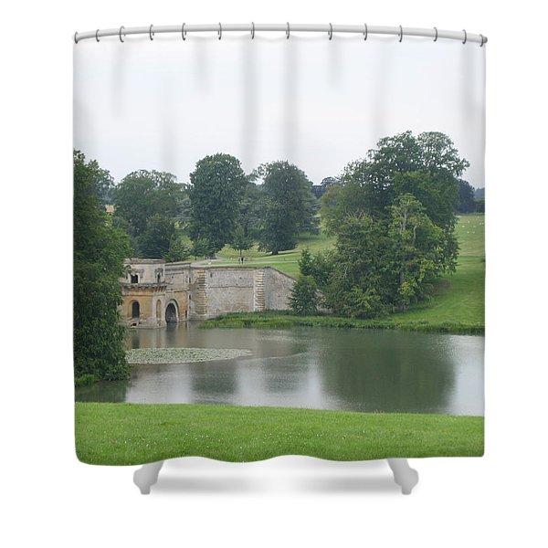Blenheim Palace Lake Shower Curtain