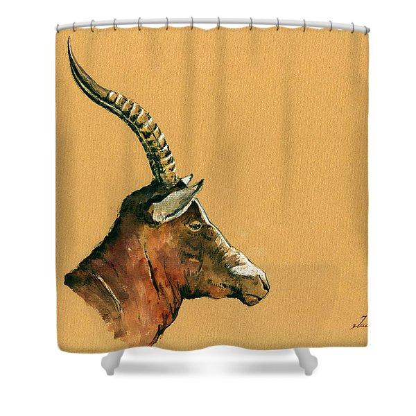 Blesbok Shower Curtain