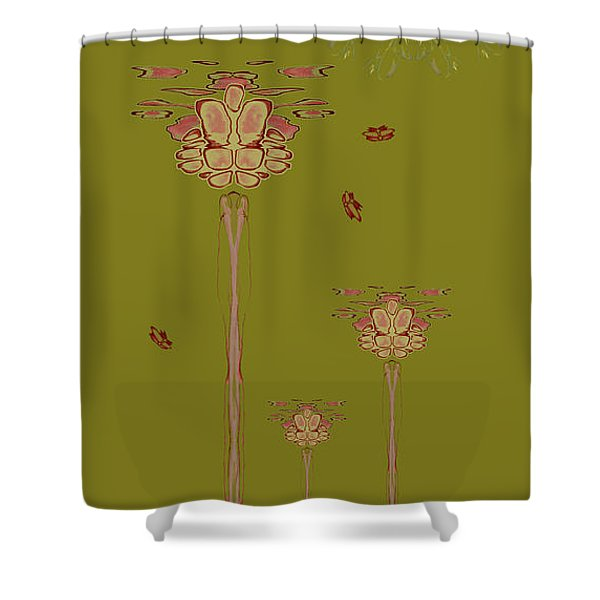 Blob Head Portrait Shower Curtain