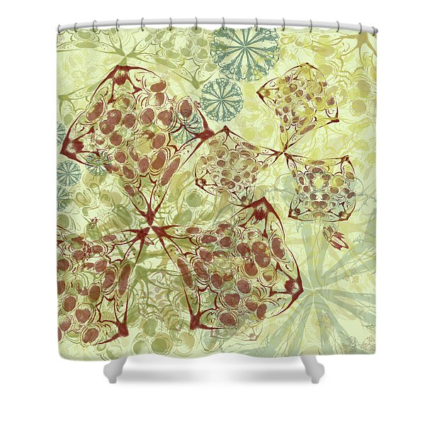 Blob Flower Painting #1 Pale Yellow Shower Curtain