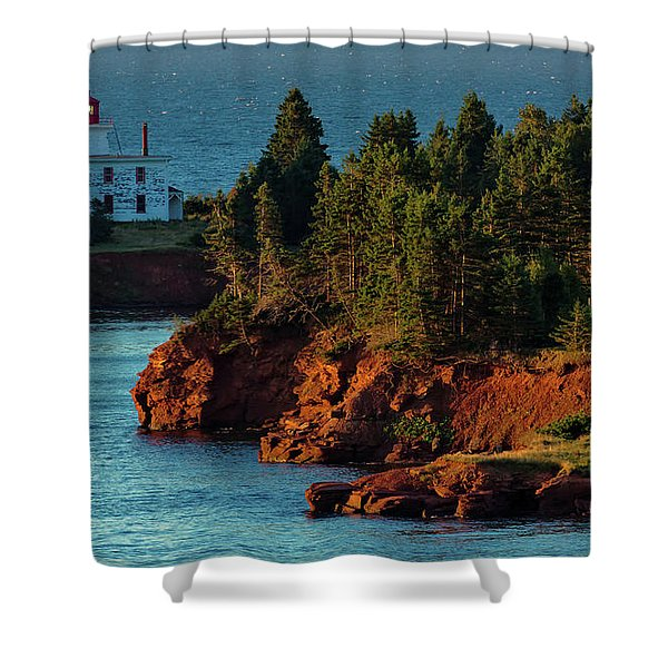 Blockhouse Point Lighthouse Shower Curtain