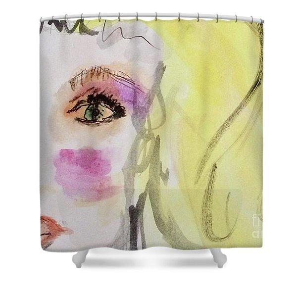 Blonde Shower Curtain