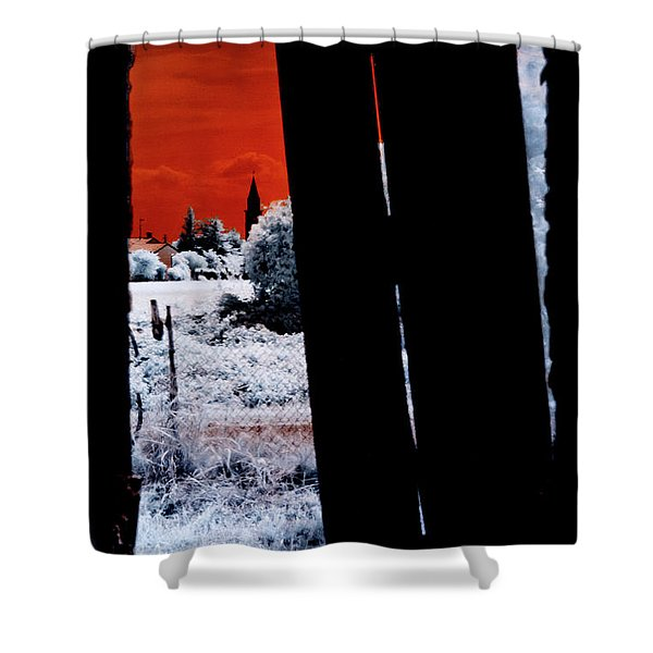 Blood And Moon Shower Curtain