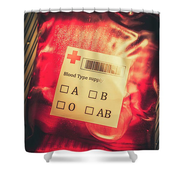 Blood Donation Bag Shower Curtain