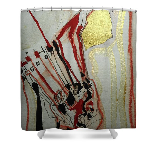 Blood Flowers Shower Curtain