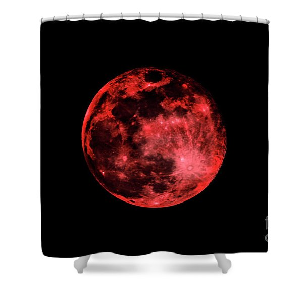 Blood Red Moonscape 3644b Shower Curtain
