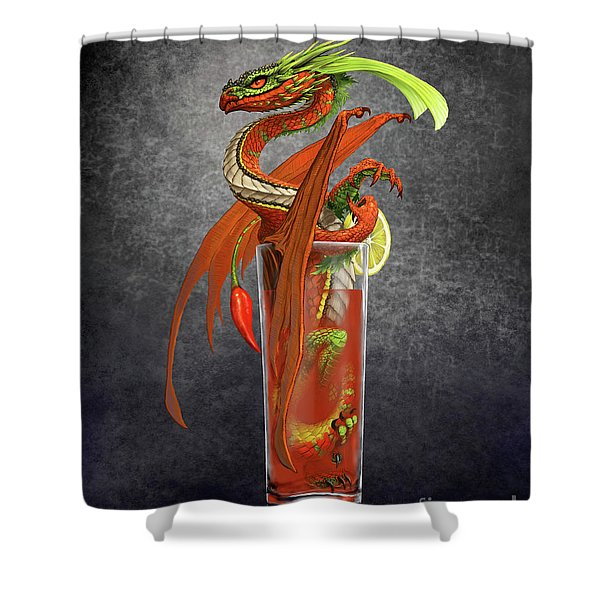 Bloody Mary Dragon Shower Curtain
