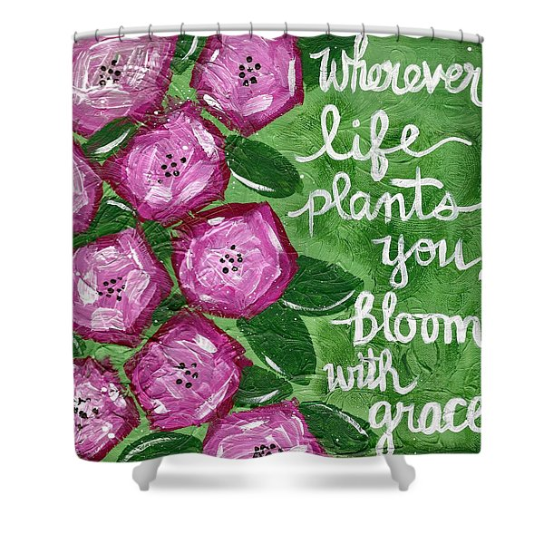 Bloom With Grace Shower Curtain