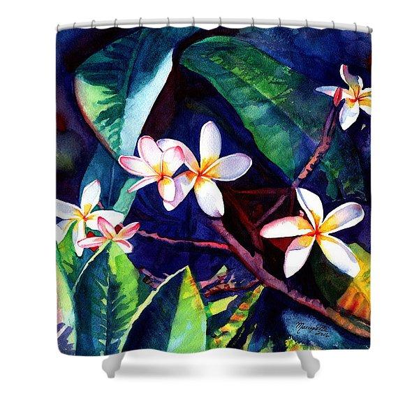 Blooming Plumeria Shower Curtain