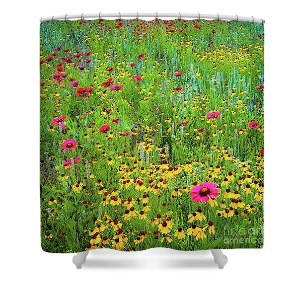 Blooming Wildflowers Shower Curtain