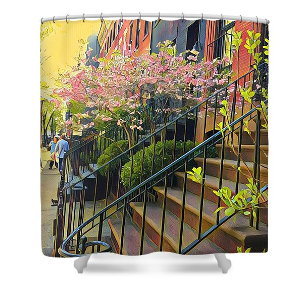 Blooms Of New York Shower Curtain