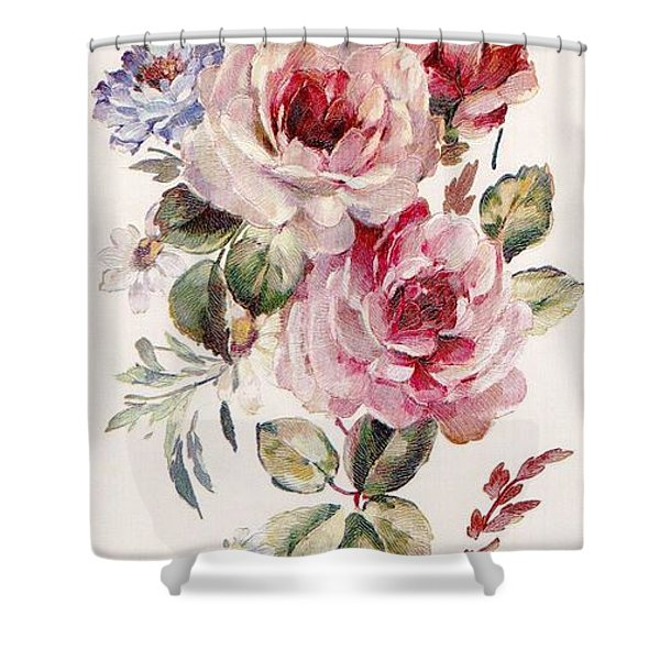 Shower Curtain featuring the mixed media Blossom Series No. 1 by Writermore Arts