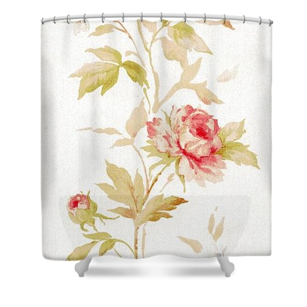 Shower Curtain featuring the mixed media Blossom Series No.2 by Writermore Arts