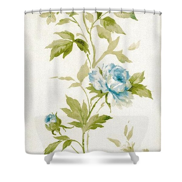 Shower Curtain featuring the mixed media Blossom Series No.3 by Writermore Arts