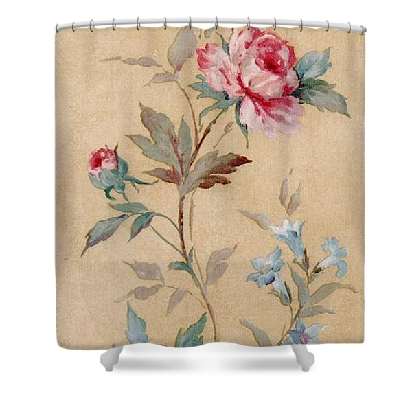 Shower Curtain featuring the mixed media Blossom Series No.4 by Writermore Arts