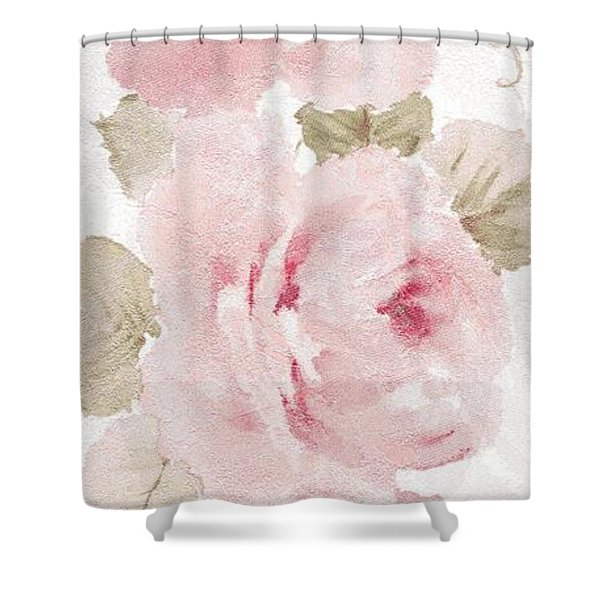 Shower Curtain featuring the mixed media Blossom Series No.5 by Writermore Arts