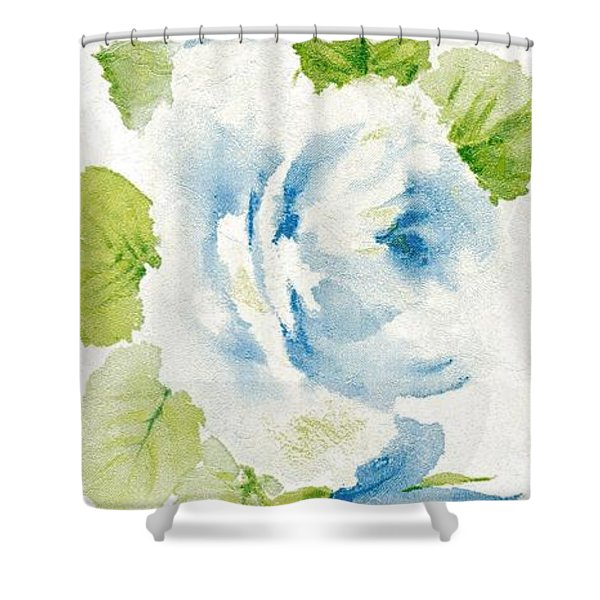 Shower Curtain featuring the mixed media Blossom Series No.7 by Writermore Arts