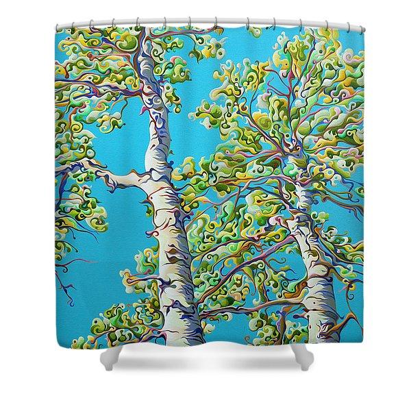 Blossoming Creativitree Shower Curtain
