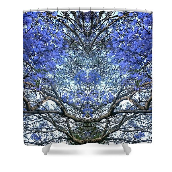 Blossoming Tree In Abstraction Shower Curtain