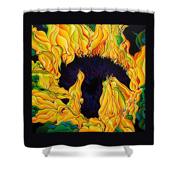 Blossomonious Yellow Trip Shower Curtain