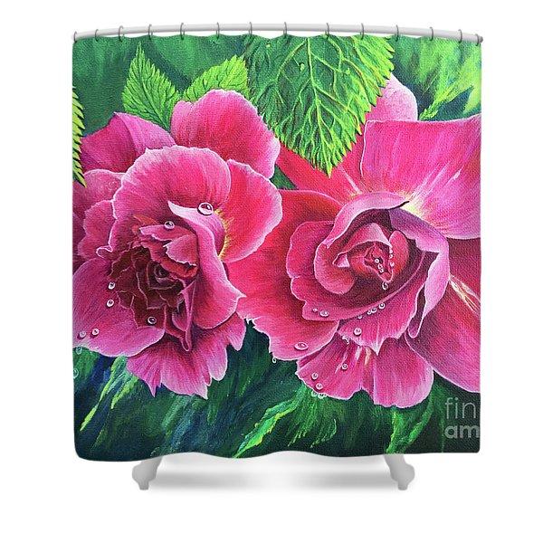 Blossom Buddies Shower Curtain