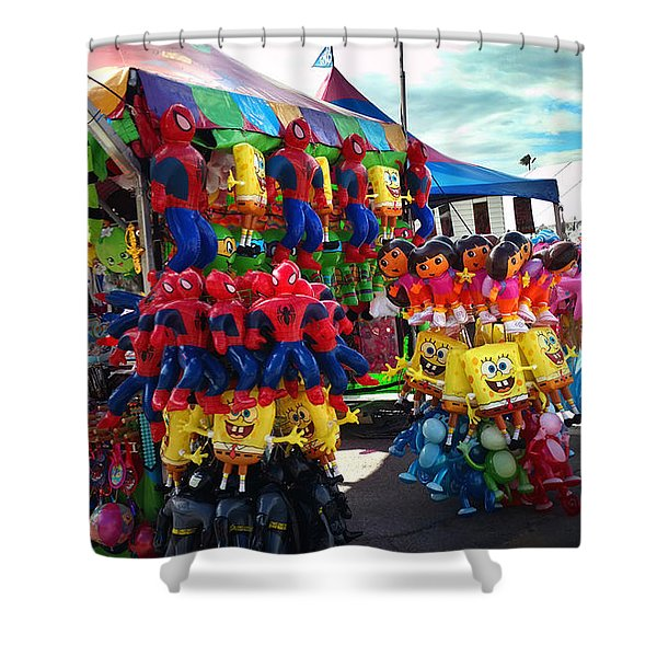 Blowed Up Shower Curtain