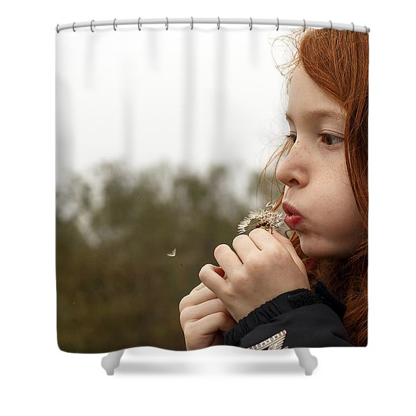 Blowing Dandelions Shower Curtain
