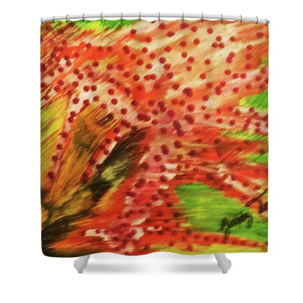 Walking Against The Wind Shower Curtain