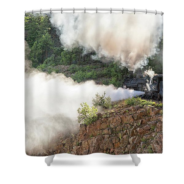 Blowing Off Steam Shower Curtain