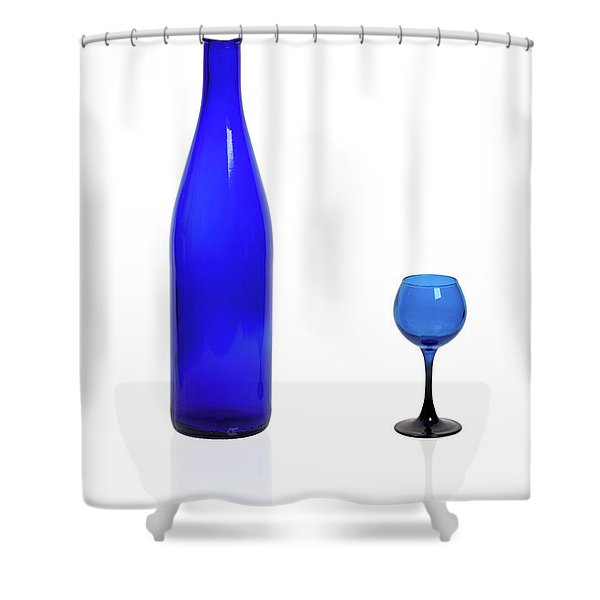 Blue  #2438 Shower Curtain