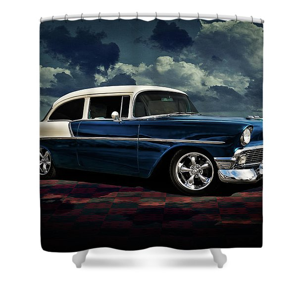Blue '56 Shower Curtain