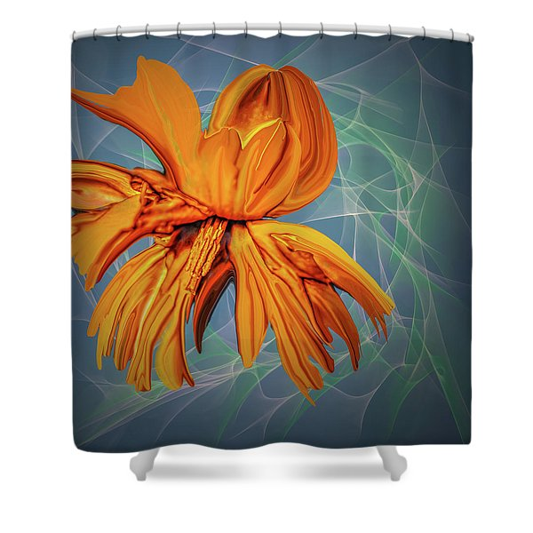 Blue And Yellow #h6 Shower Curtain