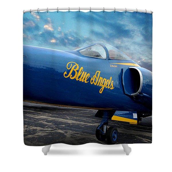 Blue Angels Grumman F11 Shower Curtain