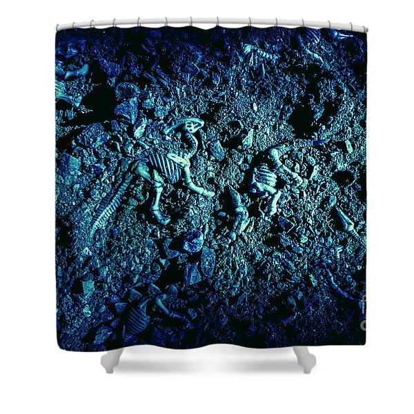 Blue Archaeology Shower Curtain