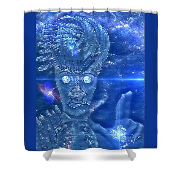 Blue Avian Shower Curtain