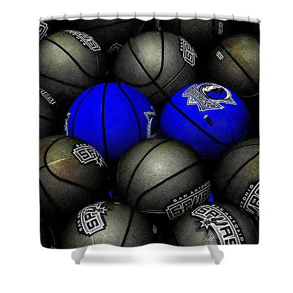 Blue Balls Shower Curtain