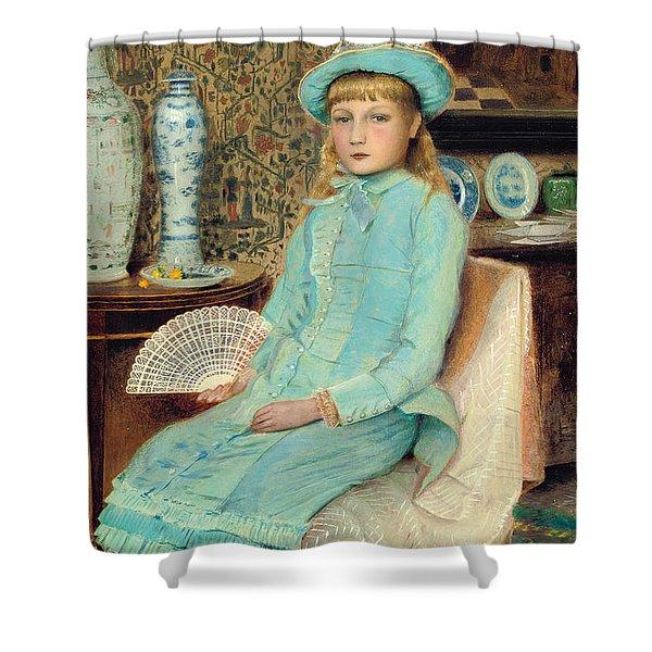 Blue Belle Shower Curtain