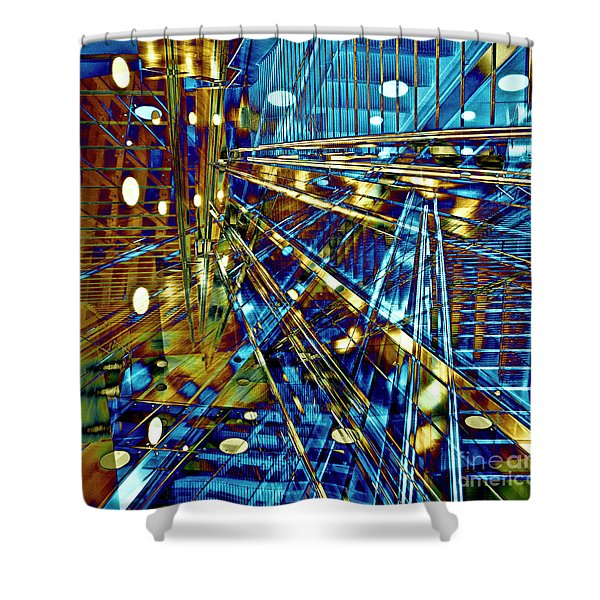 Blue Berlin Sound Shower Curtain