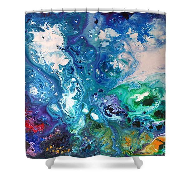 Blue Billows Shower Curtain