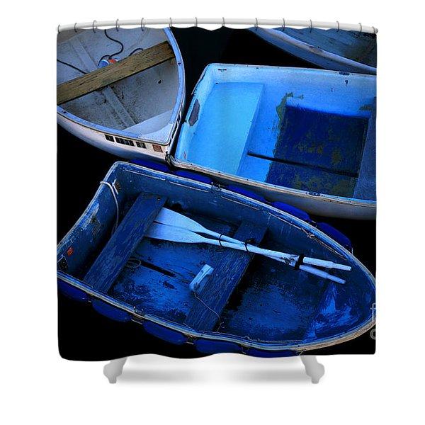 Blue Boats Shower Curtain