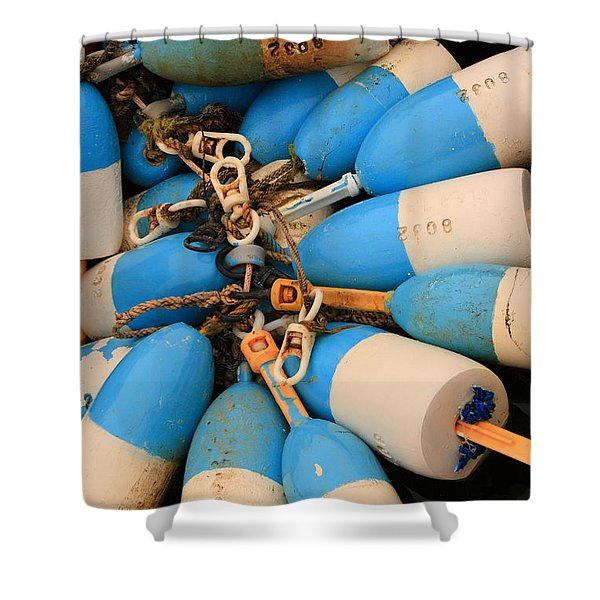 Blue Bouys Shower Curtain