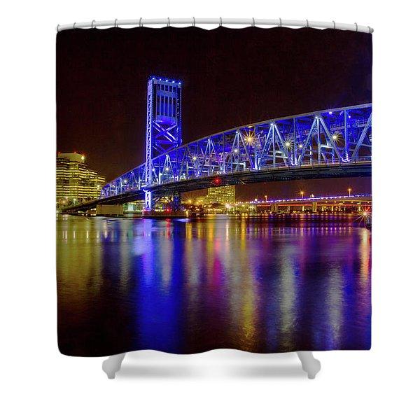 Blue Bridge 2 Shower Curtain