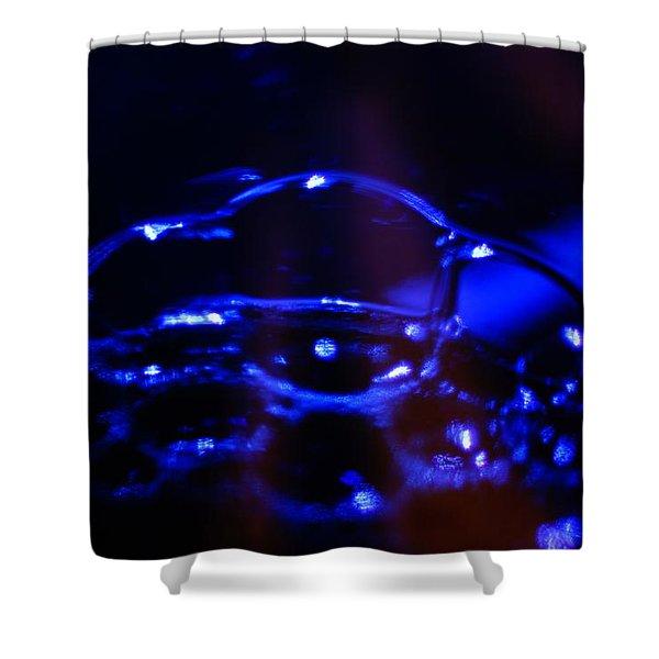 Blue Bubbles Shower Curtain